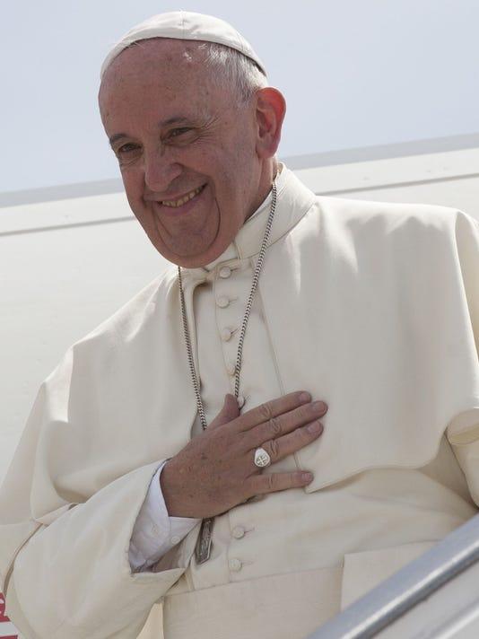 APTOPIX Cuba Pope