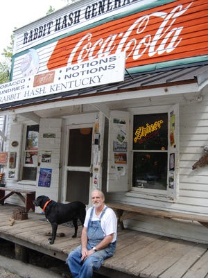 File photo of Rabbit Hash historian Don Clare outside the Rabbit Hash General Store.