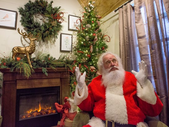 Huston Waters as Santa Claus at EastChase in Montgomery,