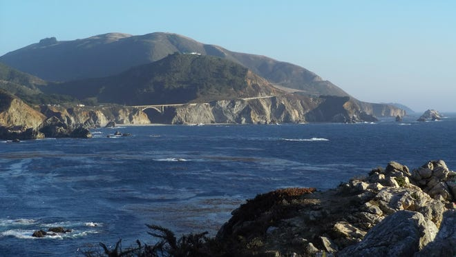 Bixby Creek Bridge along California's Highway 1 in Monterey County.