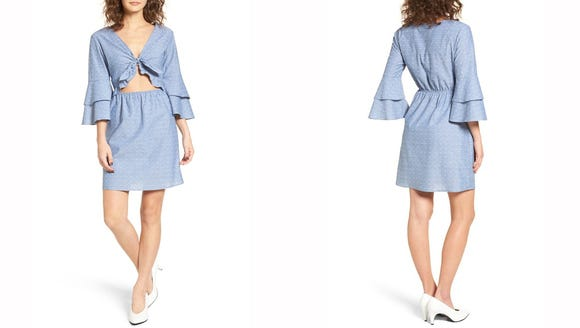 Everly Tiered Cut-Out Dress