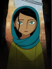 """Parvana must fend for her family in Taliban-controlled Afghanistan in """"The Breadwinner,"""" an Oscar nominee for best animated feature."""