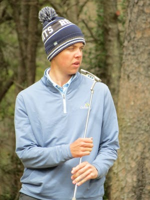 Drue Nicholas won the Galloway National Challenge golf tournament individual title and led St. Augustine to the team title at Galloway National Golf Club in Galloway Township on Tuesday, April 17, 2018.