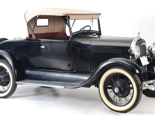 A 1929 Ford Model A Roadster Convertible Coupe with