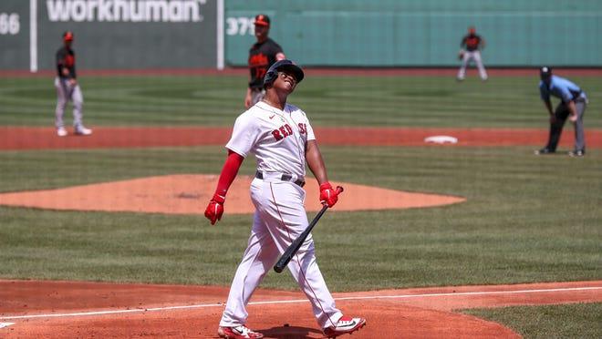 Red Sox third baseman Rafael Devers entered Saturday night's game batting just .174.