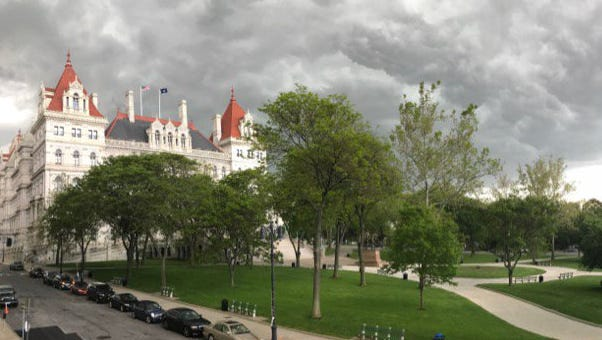 The New York State Capitol in Albany on May 31, 2017.