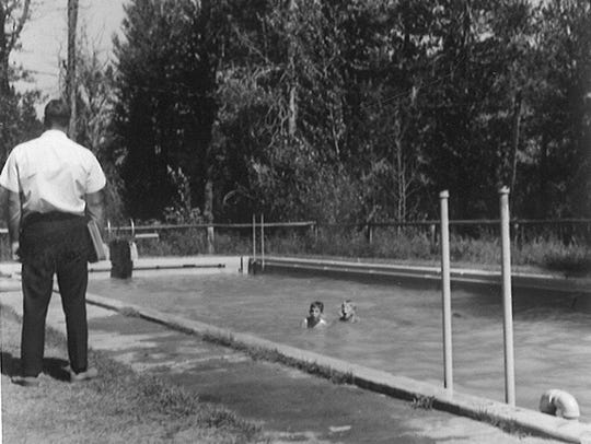 The pool, seen in this 1966 photo, at Camp Rotary was
