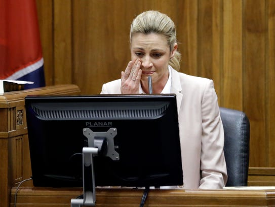 Sportscaster and television host Erin Andrews testifies