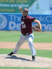 Maryland Eastern Shore's Toby Hoskins on the mound