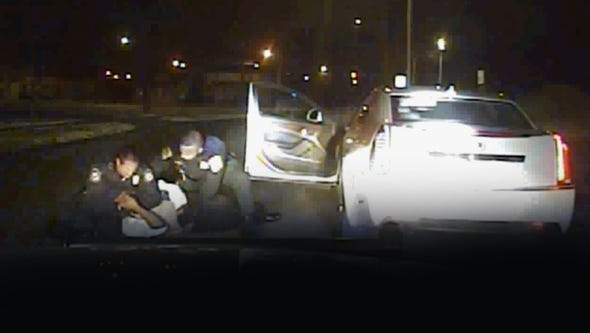 This is a frame grab from Inkster police of police