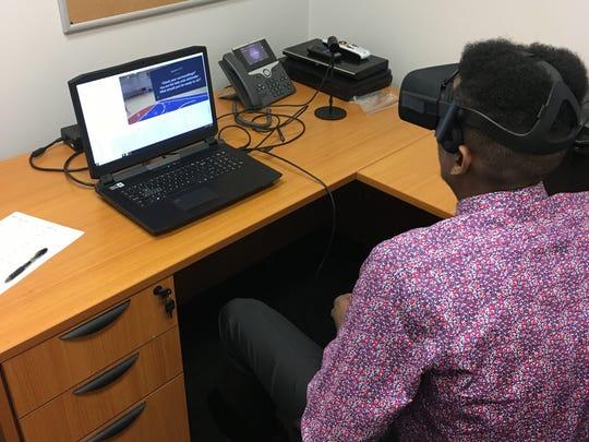 San Diego State's Malik Pope using virtual-reality
