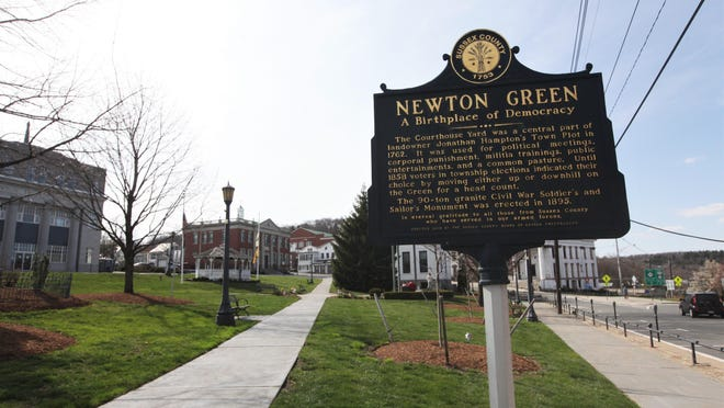 The Newton Green, pictured in April, will be the site of a rally supporting equality for residents of all backgrounds Saturday, June 6.