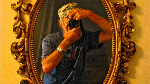 """""""Just headed out the door camera in hand. Confronted by the hallway mirror, I thought: what the heck ... so what you see is what you get."""""""