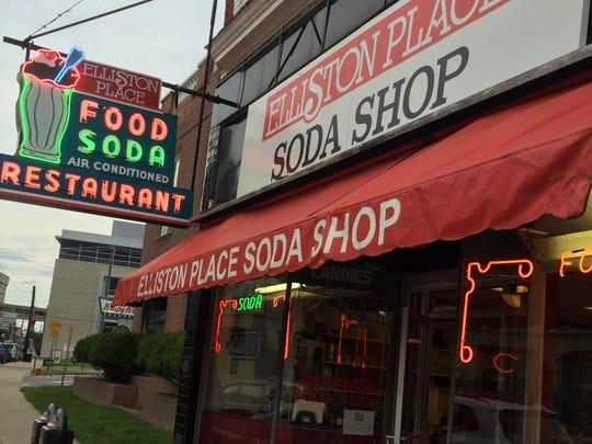 The Elliston Place Soda shop makes milkshakes with a special shake ice cream that's a softer version of hand-dipped ice cream