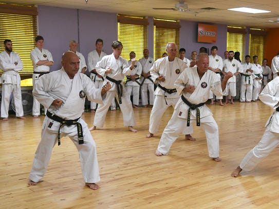 Karate practitioners from all over the U.S. and Canada