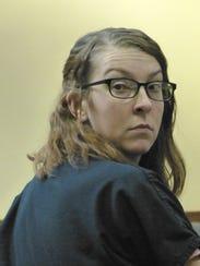 Kendra Andersen-Schwegerl looks around the courtroom