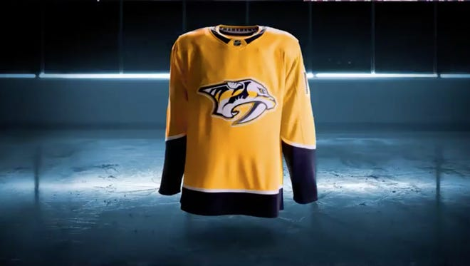 A screenshot of the Predators' updated Adidas uniforms.