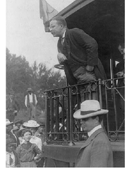 On Oct. 13, 1910, Theodore Roosevelt stopped at the