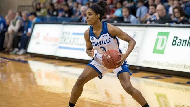 Chatori Major scored 12 points in UNC Asheville's win over Longwood on Tuesday.