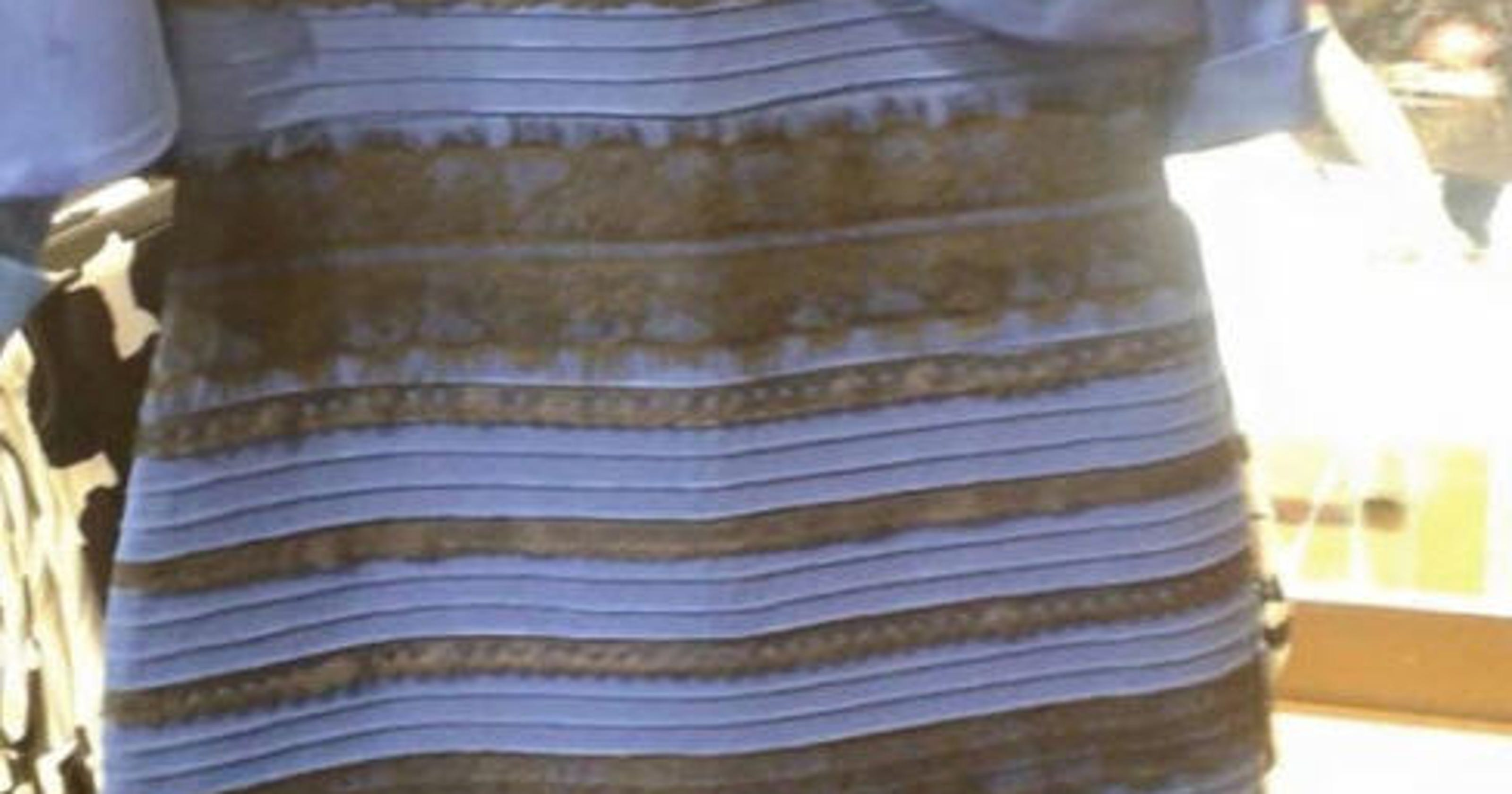 White and gold or black and blue? Dress debate rages