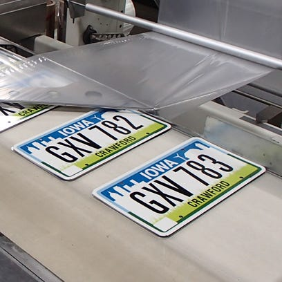 The des moines register iowas new license plates will start to appear in county fandeluxe Gallery