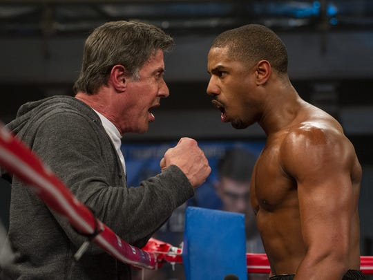 """Sylvester Stallone (left) and Michael B. Jordan in a scene from """"Creed."""""""