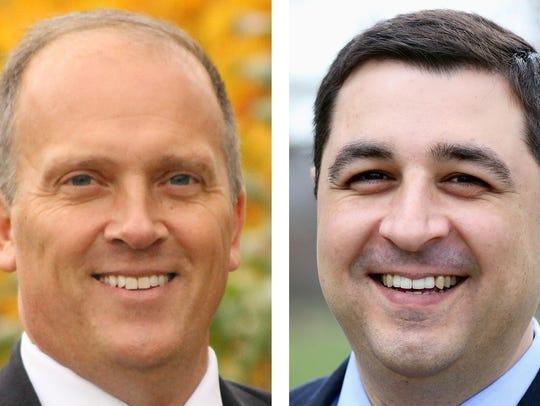 Attorney General candidates Brad Schimel (left) and