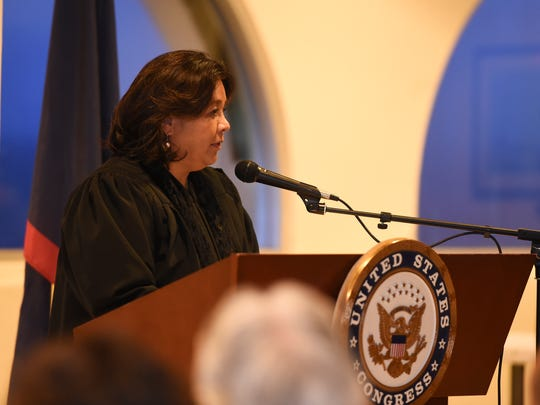 U.S. District Court of Guam Chief Judge Frances Tydingco-Gatewood, shown in this  Jan. 23, 2017, file photo, ruled the federal government can't deny assistance payments to an eligible recipient just because she lives on Guam.