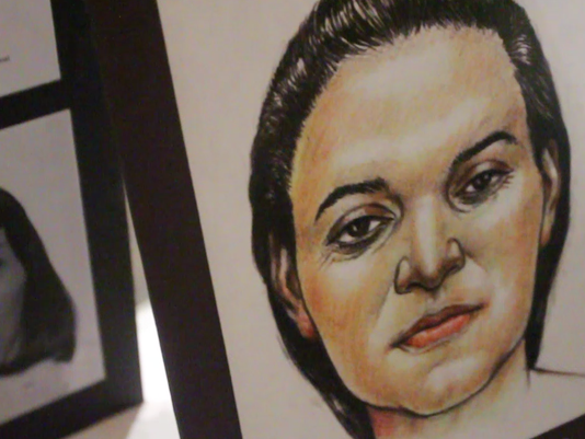 Forensic sketch by artist Stephen J. Missal at the Missing in Arizona Day Event.