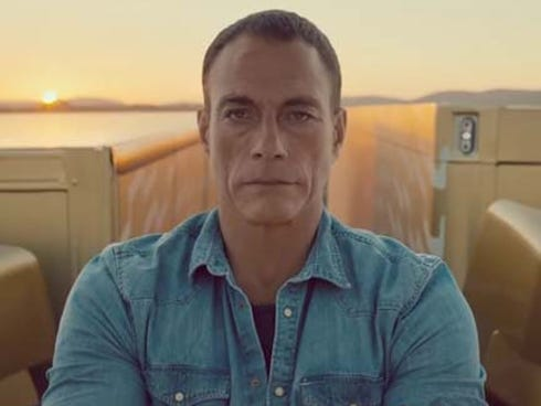 Jean Claude Van-Damme gets ready to split.