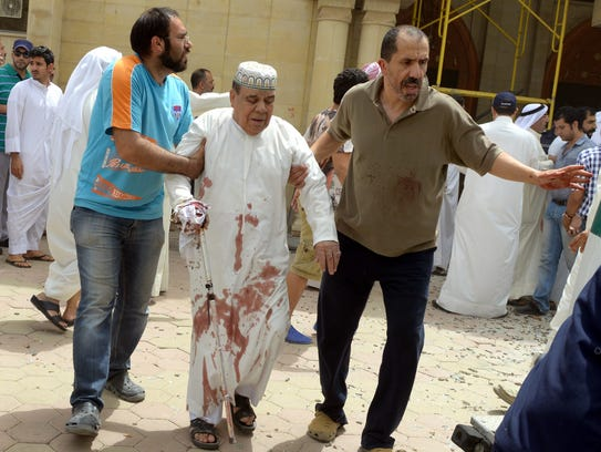 A suicide bomber entered a Shiite mosque in Kuwait