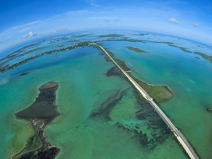 Driving the 120-mile Overseas Highway from Miami to Key West, Fla., is like piloting a hovercraft.