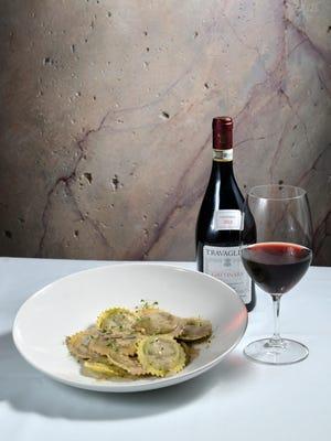At Vintage Eldorado Oct. 7 in the Reno Ballroom, the Eldorado's famed mushroom ravioli are being paired with Travaglini Gattinara, a wine made from nebbiolo grapes.