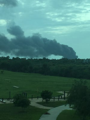 Explosion at SpaceX pad