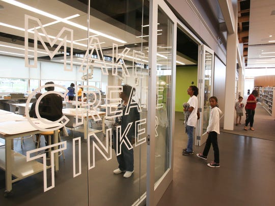 The maker lab at the Route 9 Library and Innovation Center is one of many of Delaware's recent initiatives designed to focus on the STEM fields.