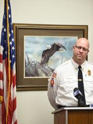City of Gatlinburg Fire Chief Greg Miller makes a statement