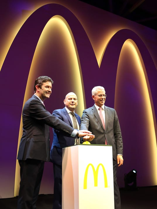 McDonald's Flagship Restaurant Re-Opening In Frankfurt/Main