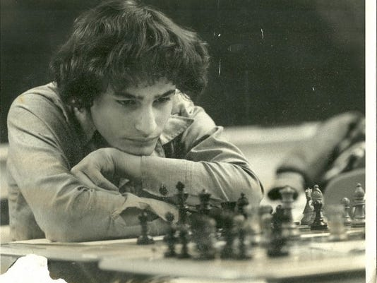 "1981 Brighton vs. Webster (Democrat & Chronicle) Caption; ""Dave Kramer of Brighton concentrates on his next move. He lost."""