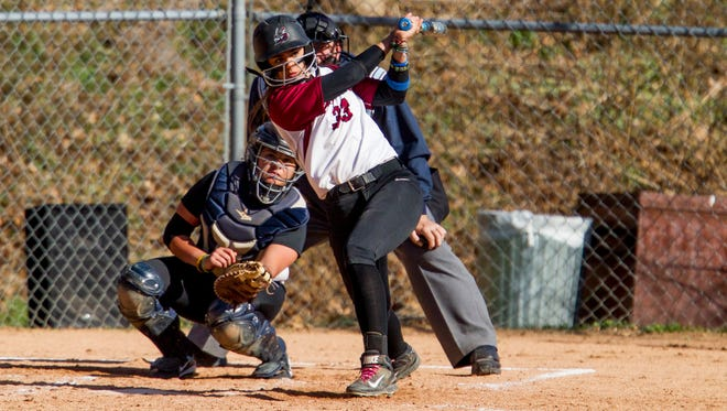 Manhattanville softball junior third baseman Alicia Marino, a Pleasantville graduate, is currently tied for the program record for RBI's in a season with 52.