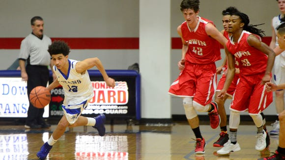Erwin and McDowell will meet in Friday night's championship game of the Mountain Athletic Conference boys basketball tournament.