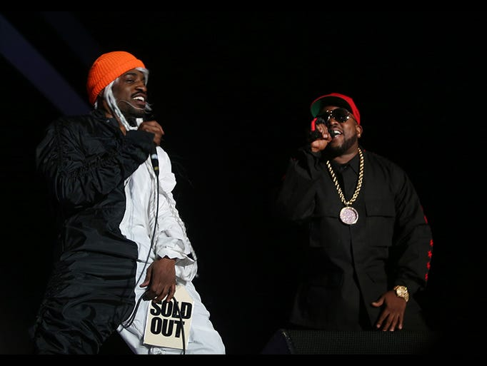 OutKast performs on the Coachella Stage during the second weekend of the Coachella Valley Music and Arts Festival in Indio, CA, Friday, April 18, 2014.