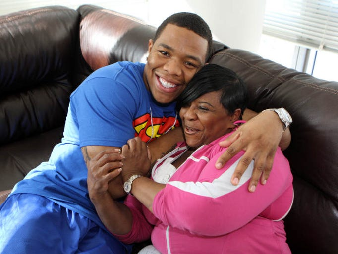 Photo of Ray Rice & his  Mother  Janet Rice