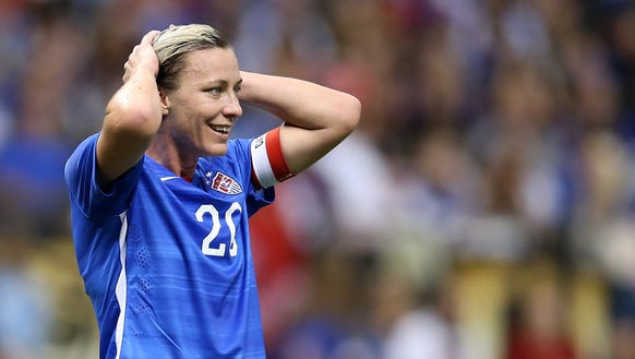 Abby Wambach, shown here during her final match on
