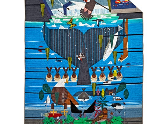 Land of Nod Charley Harper Glacier Bay limited edition quilt ($399 twin; $459 full)