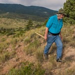 "Montana State University paleontologist Jack Horner visits a field research site in 2013 near Livingston. He is the subject of Travel Channel's Friday episode of ""Mysteries at the Museum."""