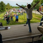 The Pleasant Hill Chamber lead off the summer season with the first Chill on the Hill community party held at Copper Creek Lake Park with Des Moines area rock band Gimick. Lead singer James Brinker was excited to be there. The event was held at Copper Creek Lake Park.