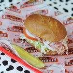 """The """"Hook and Ladder Light"""" sandwich at Firehouse Subs is on the """"under 500 calories"""" menu and costs $5.49."""
