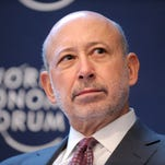 Goldman Sachs Group CEO Lloyd C. Blankfein attends a session at the World Economic Forum in Davos on January 25, 2013. Goldman is also looking to build an online lending product for consumers, Blankfein told staff in May 2015.