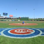 A general view of Sloan Field prior to the game between the Chicago Cubs and Cincinnati Reds on March 6, 2015 at Sloan Park in Mesa, Arizona. The Reds defeated the Cubs 5-2.