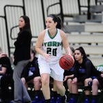 York College sophomore Beth Wiseley has battled cancer and injury to get back on the court for the Spartans.